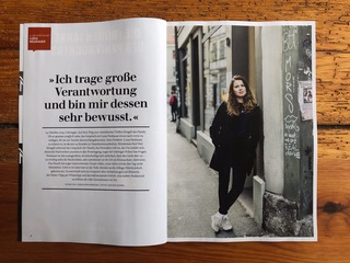 Luisa Neubauer, Fridays for Future activist. Galore Magazie 2019